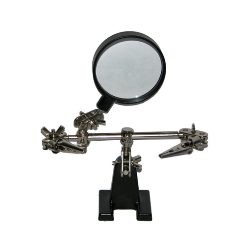 NTE Electronics JA-40 Helping Hand Tool with Magnifying Glass