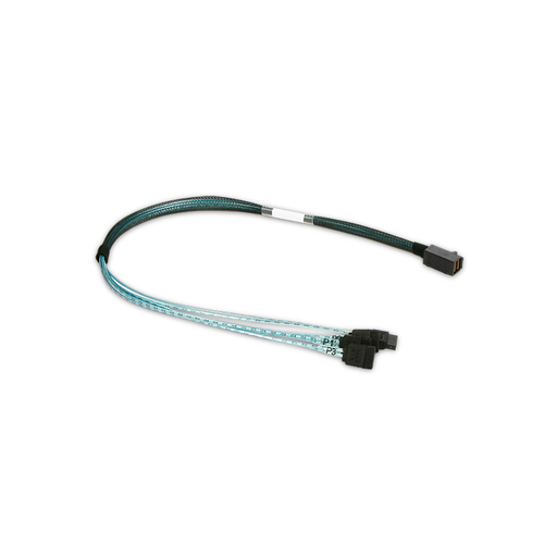 iStarUSA K-HD43XSA-50 HD miniSAS SFF-8643 to 4x SATA Forward Breakout 50 cm Cable