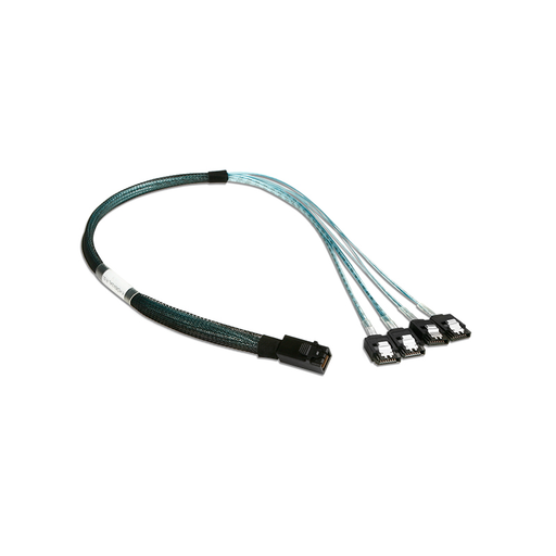 iStarUSA K-HD43XSAL-R-50 HD miniSAS SFF-8643 to 4x SATA with Latch Reverse Breakout 50 cm Cable