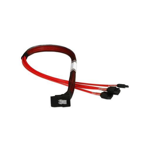 iStarUSA K-SF87RXSA-50 miniSAS SFF-8087 Right Angle to 4x SATA Forward Breakout 50 cm Cable