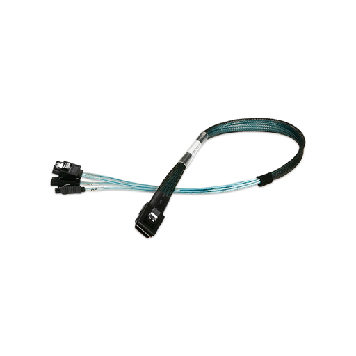 iStarUSA K-SF87XSAL-50 miniSAS SFF-8087 to 4x SATA with Latch Forward Breakout 50 cm Cable