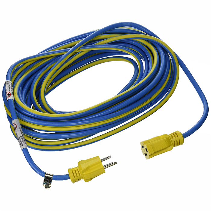Prime Wire & Cable KC506730 50' 14/3 SJTW Kaleidoscope Heavy Duty Outdoor Extension Cord, Blue and Yellow