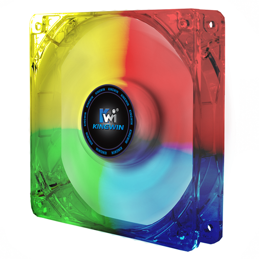 Kingwin CFMC-012LB 120mm x 120 mm Long Life Bearing Multi-Color LED Case Fan