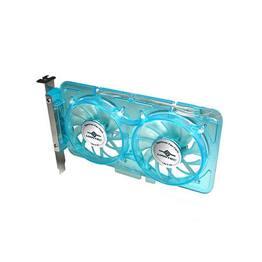 Vantec SP-FC70-BL Spectrum System Fan Card with Dual Adjustable 70mm UV LED Fans