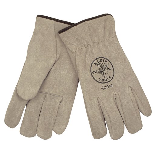 Klein 40014 Cowhide Lined Driver's Gloves, Large