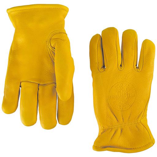 Klein Tools 40016 Deerskin Work Gloves, Lined, Medium