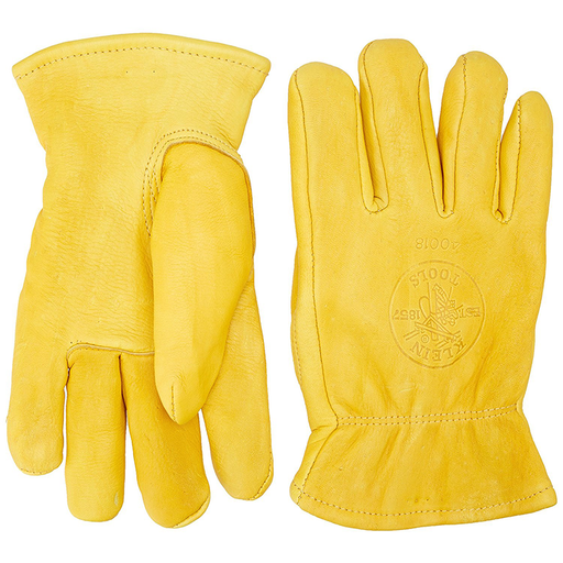 Klein Tools 40018 Deerskin Work Gloves, Lined, X-Large