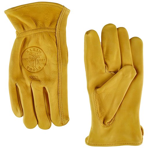 Klein Tools 40021 Cowhide Work Gloves, Unlined, Medium
