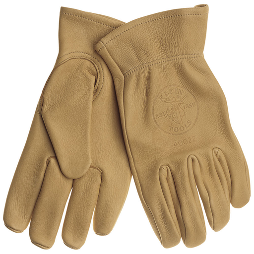 Klein Tools 40022 Cowhide Work Gloves, Unlined, Large,Tan