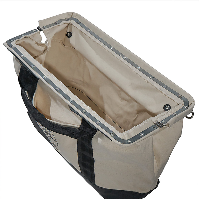 Klein Tools 5003-20 20-Inch Canvas Tool Bag with Multiple Pockets and Leather Bottom