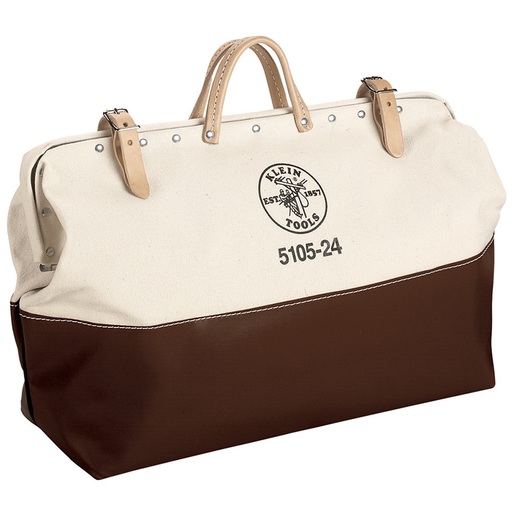 Klein Tools 5105-24 High-Bottom Canvas Tool Bag, 24-Inch