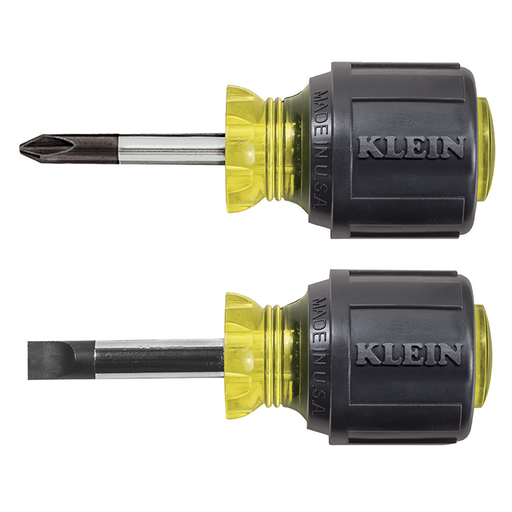 Klein Tools 85071 Stubby Screwdriver Set, 2 Piece