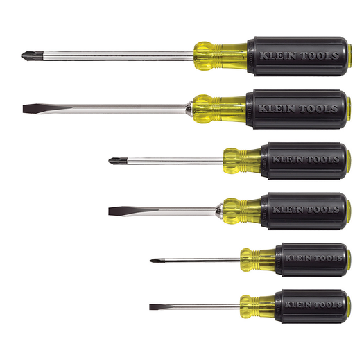 Klein Tools 85074 Cushion Grip Screwdriver Set, 6 Piece