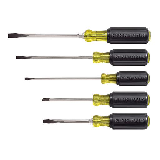 Klein Tools 85075 Cushion-Grip Screwdriver Set, 5 Piece