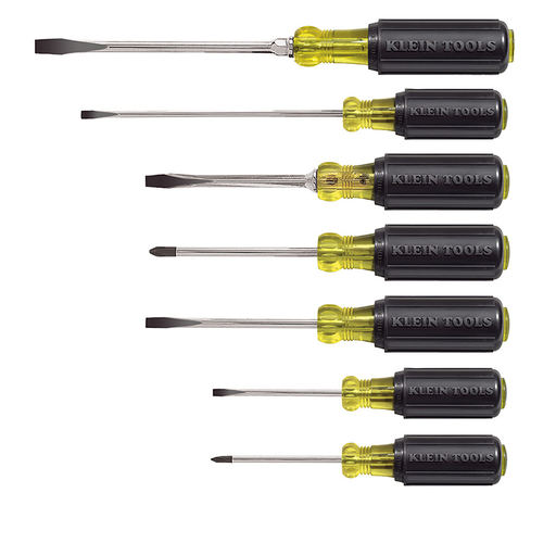 Klein Tools 85076 Cushion-Grip Screwdriver Set, 7 Piece