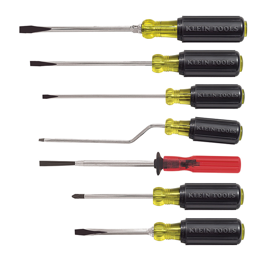 Klein Tools 85077 Multiple Application Screwdriver Set, 7 Piece