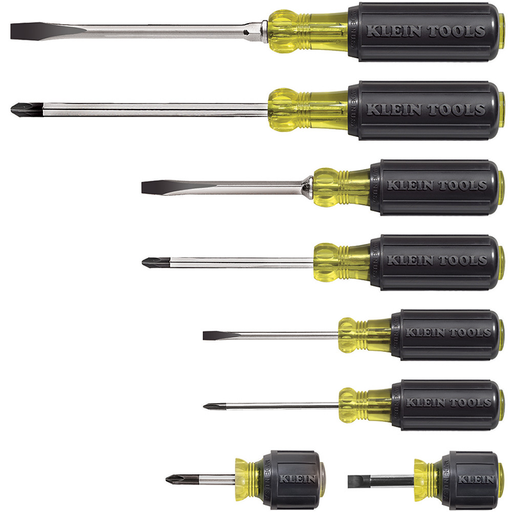 Klein Tools 85078 Cushion-Grip Screwdriver Set, 8 Piece
