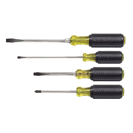 Klein Tools 85105 Cushion-Grip Screwdriver Set, 4 Piece
