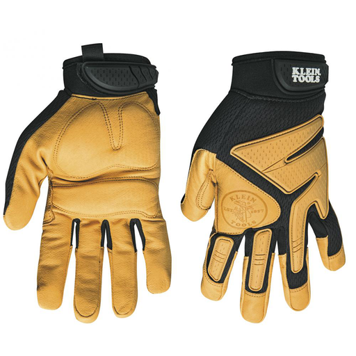 Klein Tools 40221 Journeyman Leather Gloves, Large