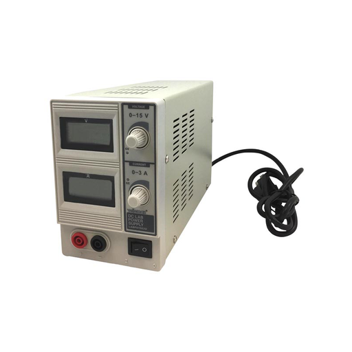 Velleman DC Lab Power Supply 0-15 VDC/0-3A Max with Dual LCD Display