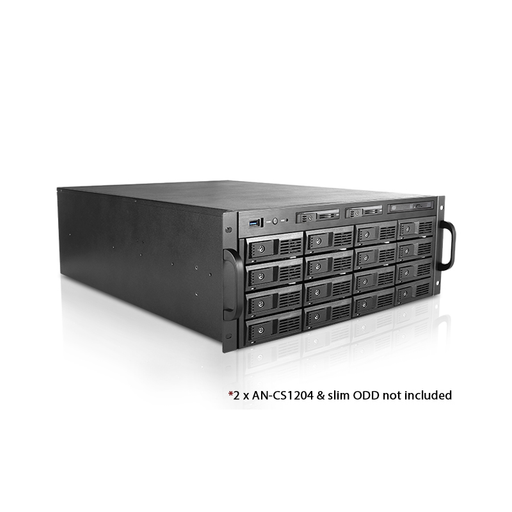 "iStarUSA M-4160-50R8PD2 4U 3.5"" 16-Bay Trayless Storage Server Rackmount Chassis with 500W Redundant Power Supply"