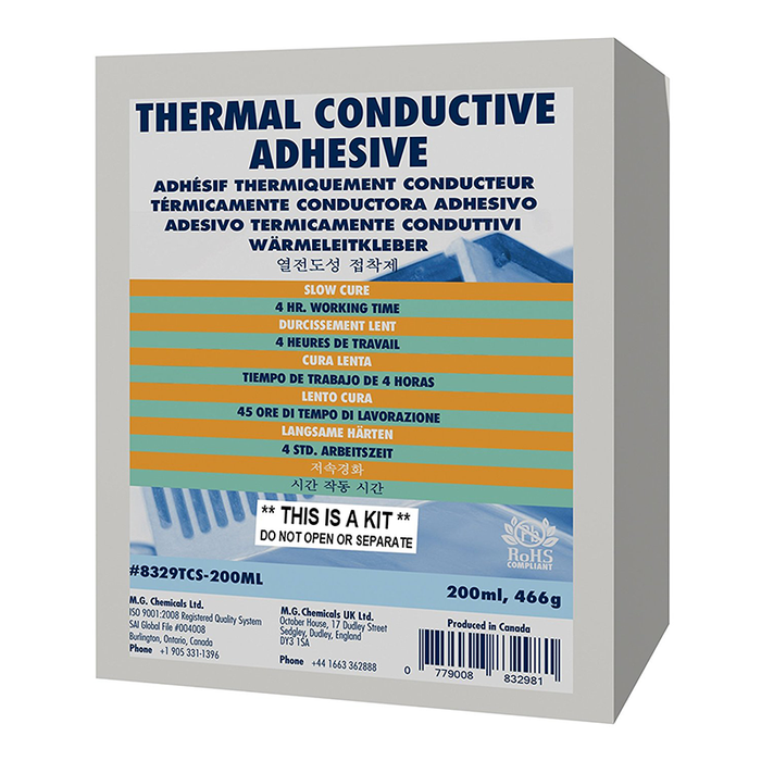 Mg Chemicals 8329TCS-200ML Slow Cure Thermal Conductive Adhesive