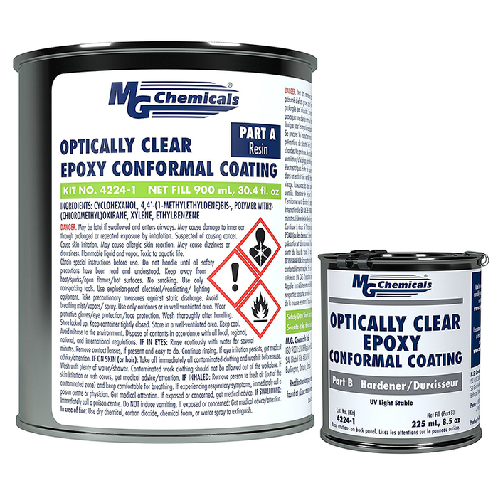Mg Chemicals 4224-1L Optically Clear Epoxy Conformal Coating