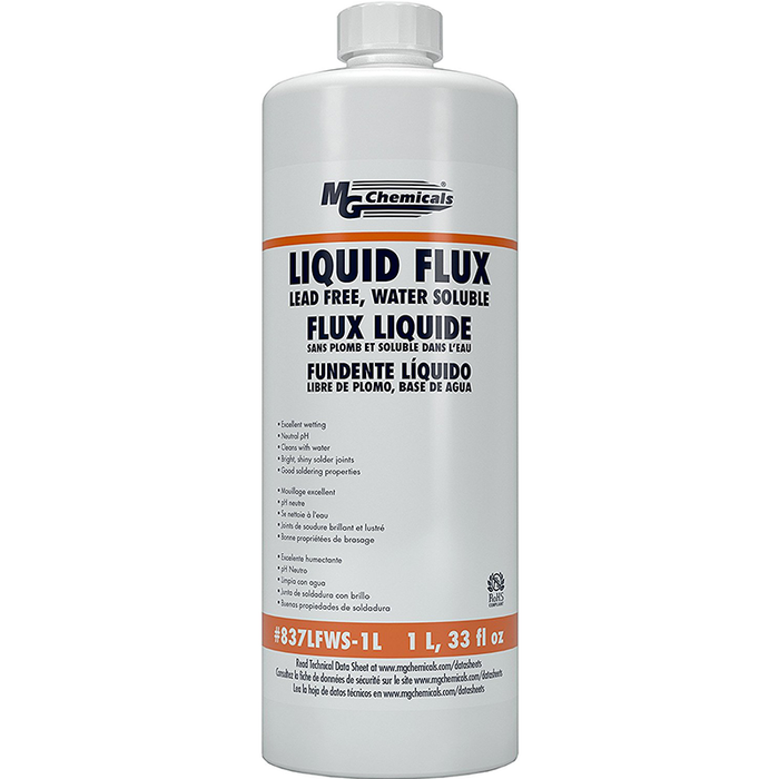 Mg Chemicals 837LFWS-1L Water Soluble Lead Free Flux