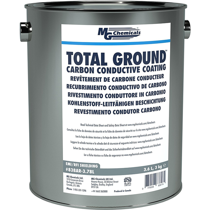 Mg Chemicals 838AR-3.78L Total Ground Carbon Conductive Coating, 3.6L Plastic Can