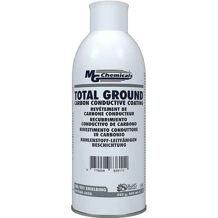 Mg Chemicals 838AR-340G Total Ground Carbon Conductive Coating, 12 oz Aerosol Can