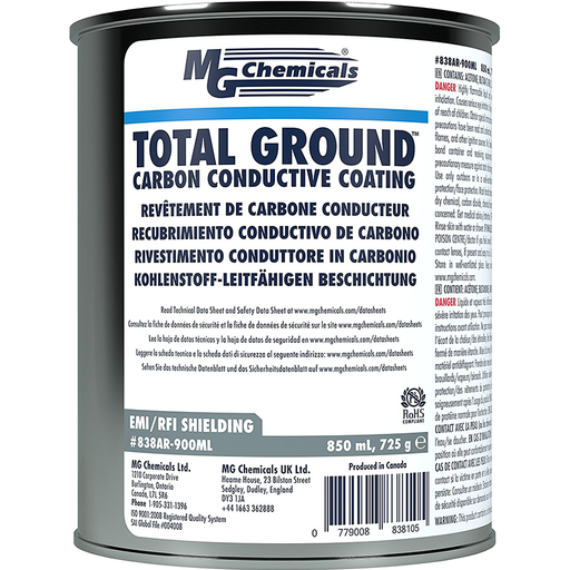 Mg Chemicals 838AR-900ML Total Ground Carbon Conductive Coating, 850 mL Plastic Can