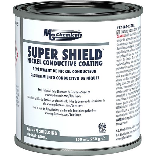 Mg Chemicals 841AR-150ML Nickel Super Shield Conductive Coating, 150 mL Metal Jar