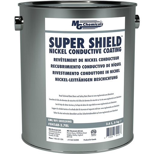 Mg Chemicals 841AR-3.78L Super Shield Nickel Conductive Coating, 3.6 L Metal Can