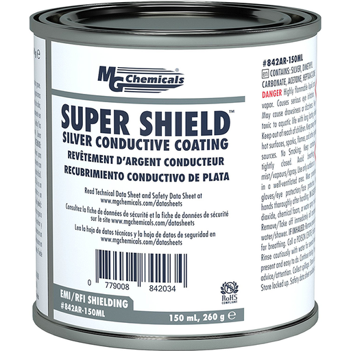 Mg Chemicals 842AR-150ML Silver Super Shield Conductive Coating, 150 mL Metal Jar