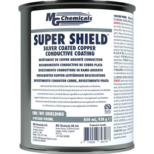 Mg Chemicals 843AR-900ML Super Shield Silver Coated Copper Conductive Coating