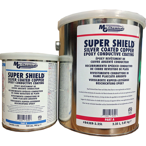 Mg Chemicals 843ER-3.25L Super Shield Silver Coated Copper Epoxy Conductive Coating, 3.25 Litre 2-part kit