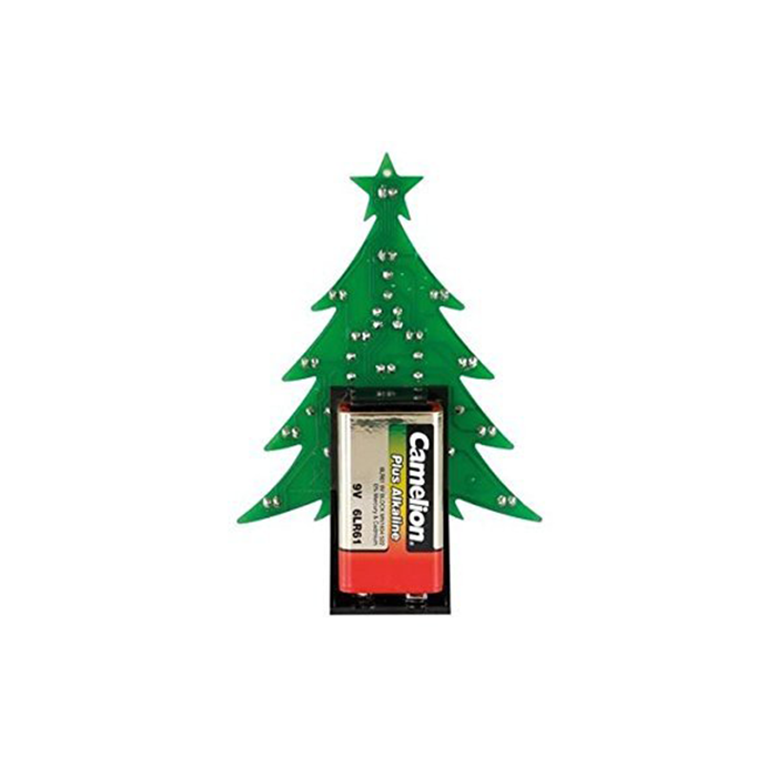 Velleman MK100B Christmas Tree Blue LED Version Kit with On/Off Switch