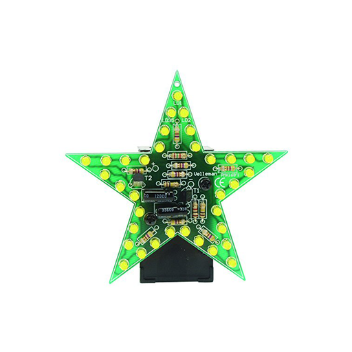 Velleman MK169Y Flashing Yellow LED Star Minikit