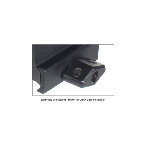 "UTG MNT-RS10S3 Hi-Profile Compact Riser Mount, 1"" High, 3 Slots"