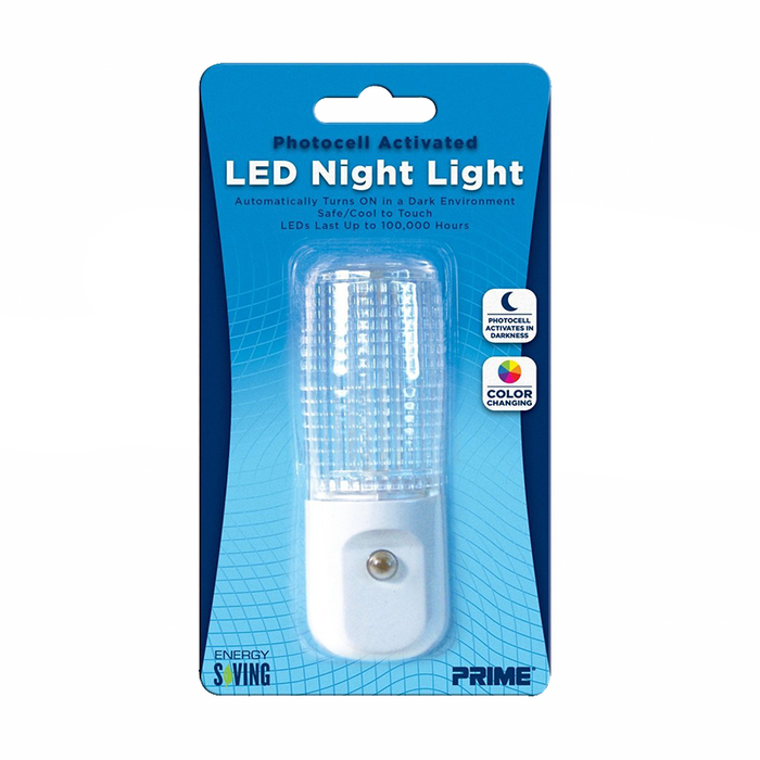 Prime Wire & Cable NLACG33 LED Automatic 7-Color Changing Cylinder Night Light
