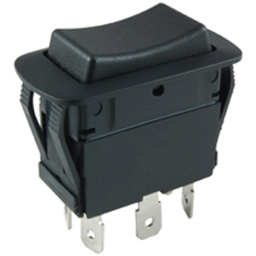 NTE Electronics 54-250W Waterproof Miniature Non-Illuminated Rocker Switch