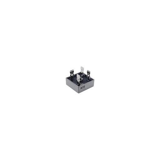 NTE Electronics NTE5326 Full Wave Single Phase Bridge Rectifier with Quick Connect Leads, 25 Amps, 600V Maximum Recurrent Peak Reverse Voltage
