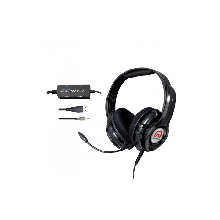 Syba OG-AUD63086 Cruiser P3210-I BASS QUAKE Gaming Headset with Detachable Boom Mic for PS3 Console