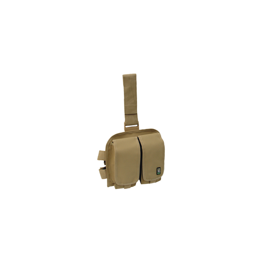 UTG PVC-LP604T Double Drop-leg Mag Pouch, Tan