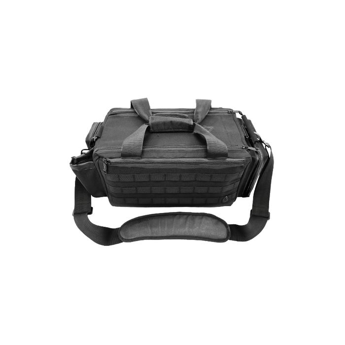 "UTG PVC-P365B All-in-1 Range/Utility Go Bag, 21""x9""x8"",Black"