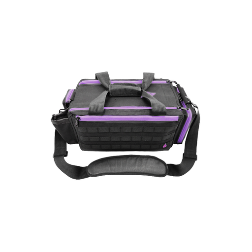 "UTG PVC-P365BV All-in-1 Range/Utility Go Bag, 21""x9""x8"",Black/Violet"