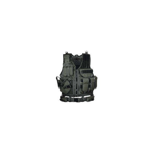 UTG PVC-V547BL 547 Law Enforcement Tactical Vest, Left Handed, Black