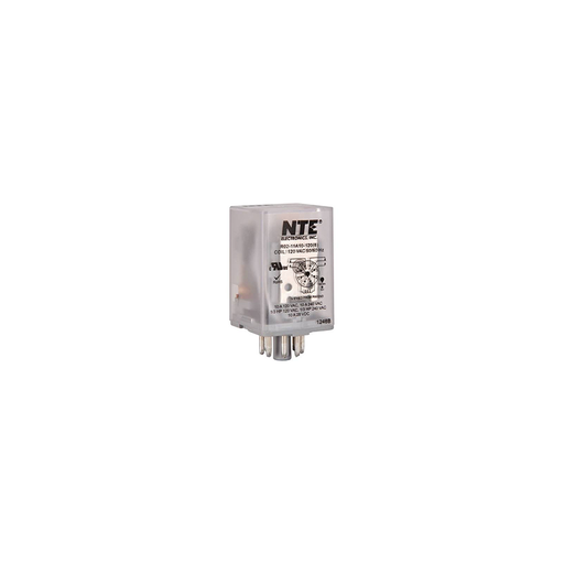 NTE Electronics R02-11A10-120 R02 Series General Purpose Multicontact AC Relay