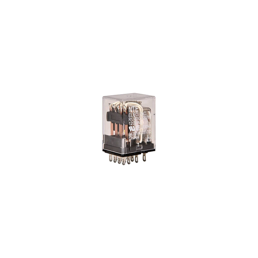 NTE Electronics R12-17A3-120 Series R12 General Purpose AC Relay, 4PDT Contact