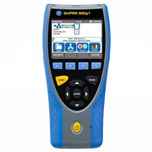 Ideal R152002 Gigabit Ethernet Multistream Bi-Directional Trans-mission Tester with Single Copper and Optical Port